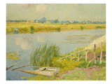 The Lily Banks; Bords De La Lys Giclee Print by Emile Claus