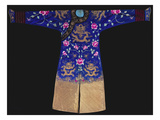A Formal Court Robe (Chi'Fu) of Midnight Blue Satin Embroidered with Eight Gilt Dragons Among Hot… Posters