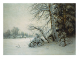 Winter Morning Giclee Print by Gavriil Pavlovich Kondratenko