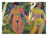Two Naked Women in a Wood; Zwei Nackte Frauen Im Wald Giclee Print by Ernst Ludwig Kirchner