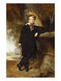 Portrait of a Boy, Possibly a Member of the Stirling Family, Full Length, in a Dark Jacket and… Posters av Sir William Orpen