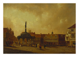 A View of the Cornhill, Ipswich Giclee Print by George Frost