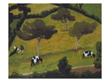 Cows in a Field; Vaches Dans Un Pre Giclee Print by Roger De La Fresnaye