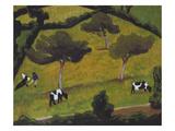Cows in a Field; Vaches Dans Un Pre Posters by Roger De La Fresnaye