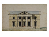Design for a Villa at Llanaeron Giclee Print by Sir William Chambers