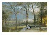 The Gardens, Pallanza, Lago Maggiore Prints by Albert Goodwin