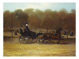 A Lady Driving in Hyde Park Giclee Print by Giuseppe Denittis (Attr to)