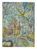 Flock of Birds; Vogelsammlung Reproduction procédé giclée par Paul Klee