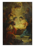 The Adoration of the Shepherds Giclee Print by Corrado Giaquinto (Follower of)