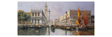 The Piazzetta from the Lagoon, Venice Premium Giclee Print by Antonio Reyna Manescau