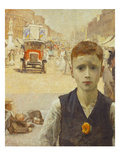 London Summer (Boy in Busy London Street) Giclee Print by Ursula Wood
