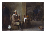 A Peasant Smoking in an Inn Poster by David Teniers the Younger