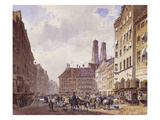 Marienplatz, Munich Prints by Friedrich Eibner