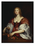 Portrait of a Lady, Traditionally as the Countess of Carnarvon Giclee Print by Anthony Van Dyck (Circle of)