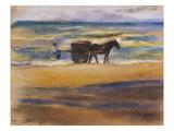 Muschelsucher Am Strand Giclée-tryk af Max Liebermann