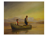 Figures Fishing from a Boat Posters by Niels Simonsen