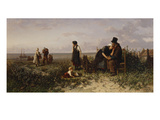 The Return of the Fishing-Fleet: Happiness and Despair Giclée-Druck von Elchanon Verveer