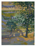 Summer Embankment Giclee Print by Dorothy A. Cadman