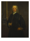 Portrait of Sir Isaac Newton, Aged 80, Three-Quarter Length, in a Grey Coat Premium Giclee Print by Anthony Lee
