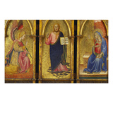Christ the Redeemer; the Archangel Gabriel and the Virgin Annunciate Giclee Print by Agnolo Gaddi