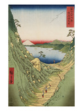 Shiojiri Pass in Shinano Province, from 'Thirty Six Views of Mount Fuji' Giclee Print by Ando Hiroshige