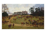 The Cheshire Hunt: the Meet at Calverly Hall Poster by George Goodwin Kilburne