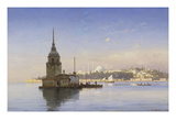 Leander's Tower with Constantinople Beyond Giclee Print by Carl Neumann