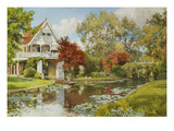 The Boathouse Reproduction proc&#233;d&#233; gicl&#233;e par Alfred Parsons