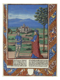 Charlemagne's Vision of St James the Great in a Landscape. Chroniques De France Prints