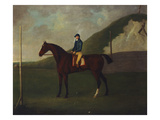Creeper' a Bay Colt with Jockey Up at the Starting Post at the Running Gap in the Devils Ditch,… Giclee Print by John Nost Sartorius