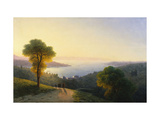 A View of the Bosphorus from the European Side Above the Palace of the Dolmabache, the Seraglio… Giclee Print by Ivan Konstantinovich Aivazovsky
