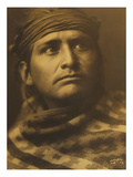 Chief of the Desert, Navaho Premium Giclee Print by Edward S. Curtis
