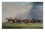 The Finish for the Ascot Cup, 1842 Wydruk giclee autor John Dalby of York
