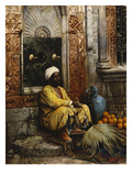 The Orange Seller Lmina gicle por Ludwig Deutsch