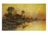 Autumn Evening - Somme Marshes; Soir D'Automne - Marais De La Somme Giclee Print by Albert Gabriel Rigolot
