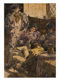 Sketch to Illustrate the Passions - Drunkeness Poster by Richard Dadd