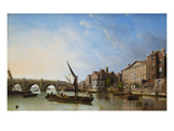 View of Old Westminster Bridge Giclee Print by Samuel Scott (Follower of)