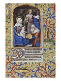 Adoration of the Magi. Book of Hours, Use of Paris, in Latin and French Prints