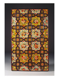 A Qajar Painted Ceiling Panel Comprising Two Rows of Four Yellow and White Stellar Panels… Print