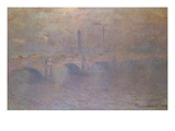 The Thames at London, Waterloo Bridge; La Tamise a Londres, Waterloo Bridge Premium Giclee Print by Claude Monet