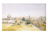 The Dome of the Rock, Seen from the North, Jerusalem Prints by Max Schmidt