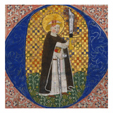 St. Peter Martyr. Historiated Initial 'O' Cut from an Iluminated Manuscript Choirbook Posters