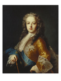 Portrait of King Louis Xv (1715-1774), as a Youth,  Half Length, Wearing a Yellow Coat with the… Giclee Print by Jean Ranc (Attr to)