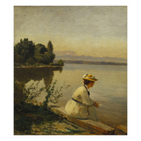 Near Leoni, by Starnberger See Reproduction procédé giclée par Anders Andersen-Lundby