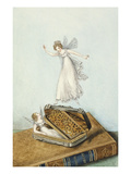 Fairies Playing with a Snuff Box Resting on a Book Giclee Print by Amelia Jane Murray