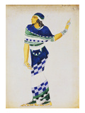 Costume Design for a Musician Giclee Print by Leon Bakst