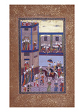 Yusuf and His Attendants Enter the Busy Streets of Egypt Print