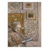 Mrs Vuillard with a Tapestry; Madame Vuillard a La Tapisserie Gicl&#233;e-Druck von Edouard Vuillard