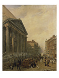 The Mansion House from Poultry Looking Down Cheapside Towards St. Mary-Le-Bow Posters by Frederick Nash