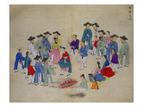 Entertainers Receiving Money Giclee Print by Kim Junkeun